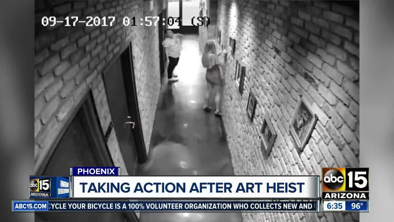 Local business taking action after art was stolen