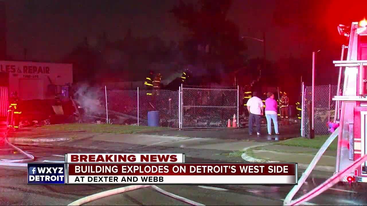 Home of Street Royalty Motorcycle Club in Detroit explodes