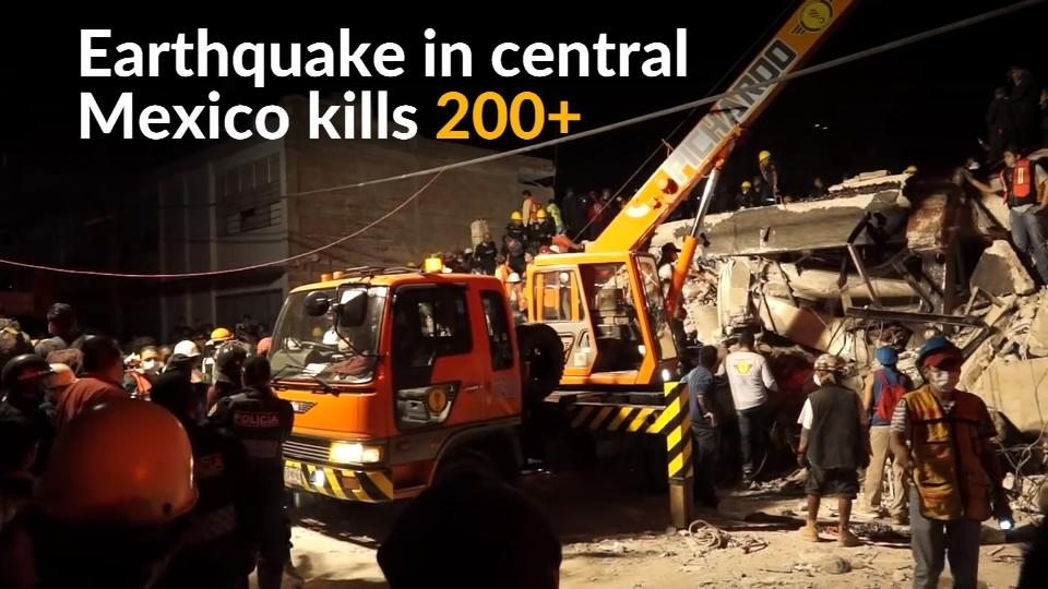 Earthquake in central Mexico kills hundreds