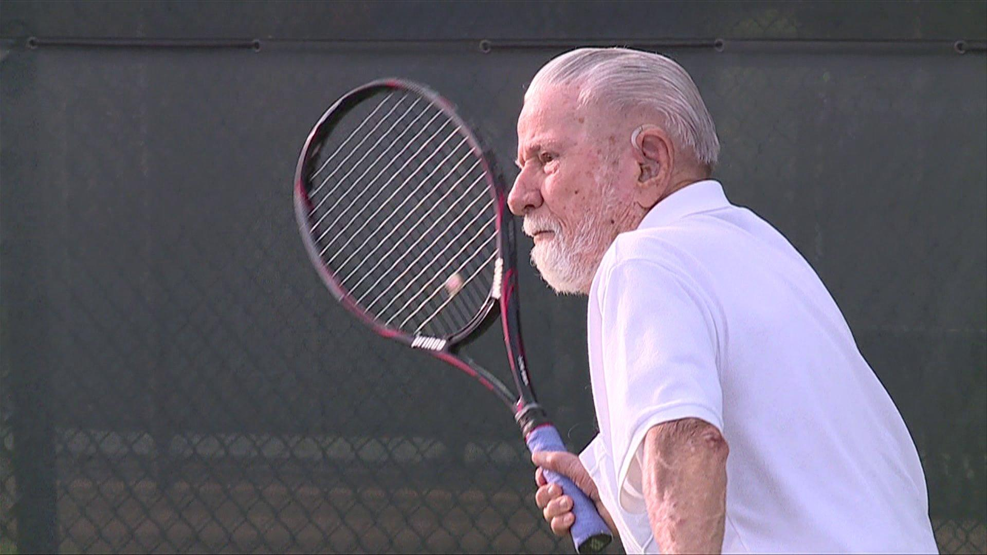 100-Year-Old Man Says Tennis is Keeping Him Alive