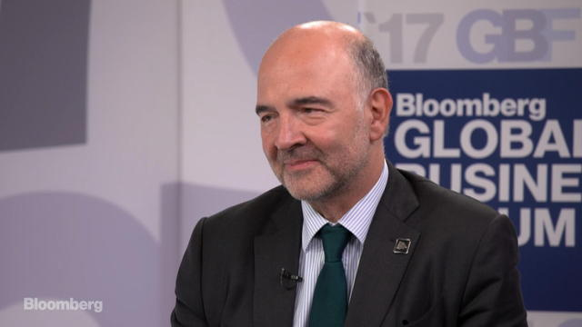 EU's Moscovici Says European Growth Is Back and Solid