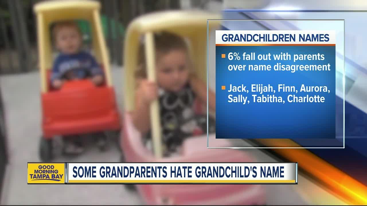 Survey: One in five grandparents hate their grandchild's name