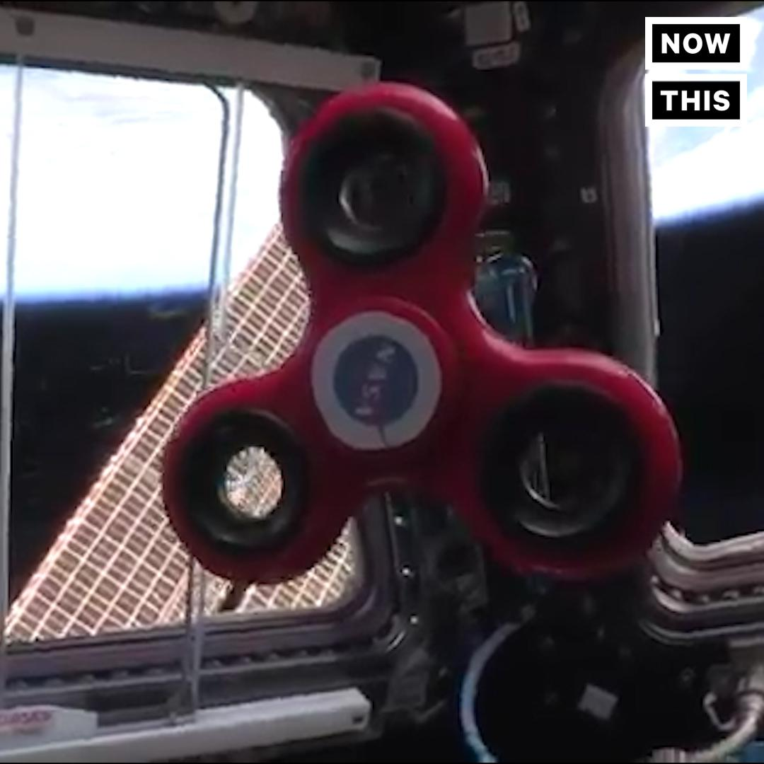 Astronauts Play With Fidget Spinner In Space