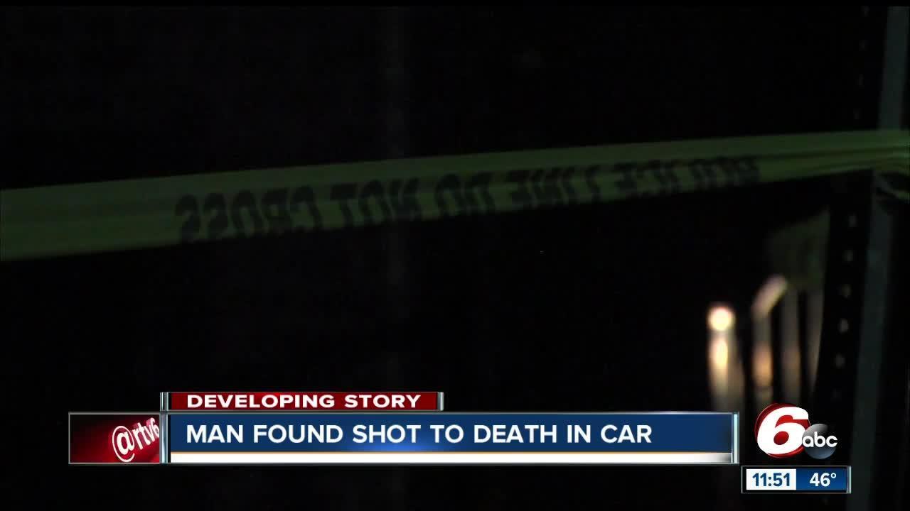 Man found shot dead in vehicle on Indy's northeast side; death investigation underway