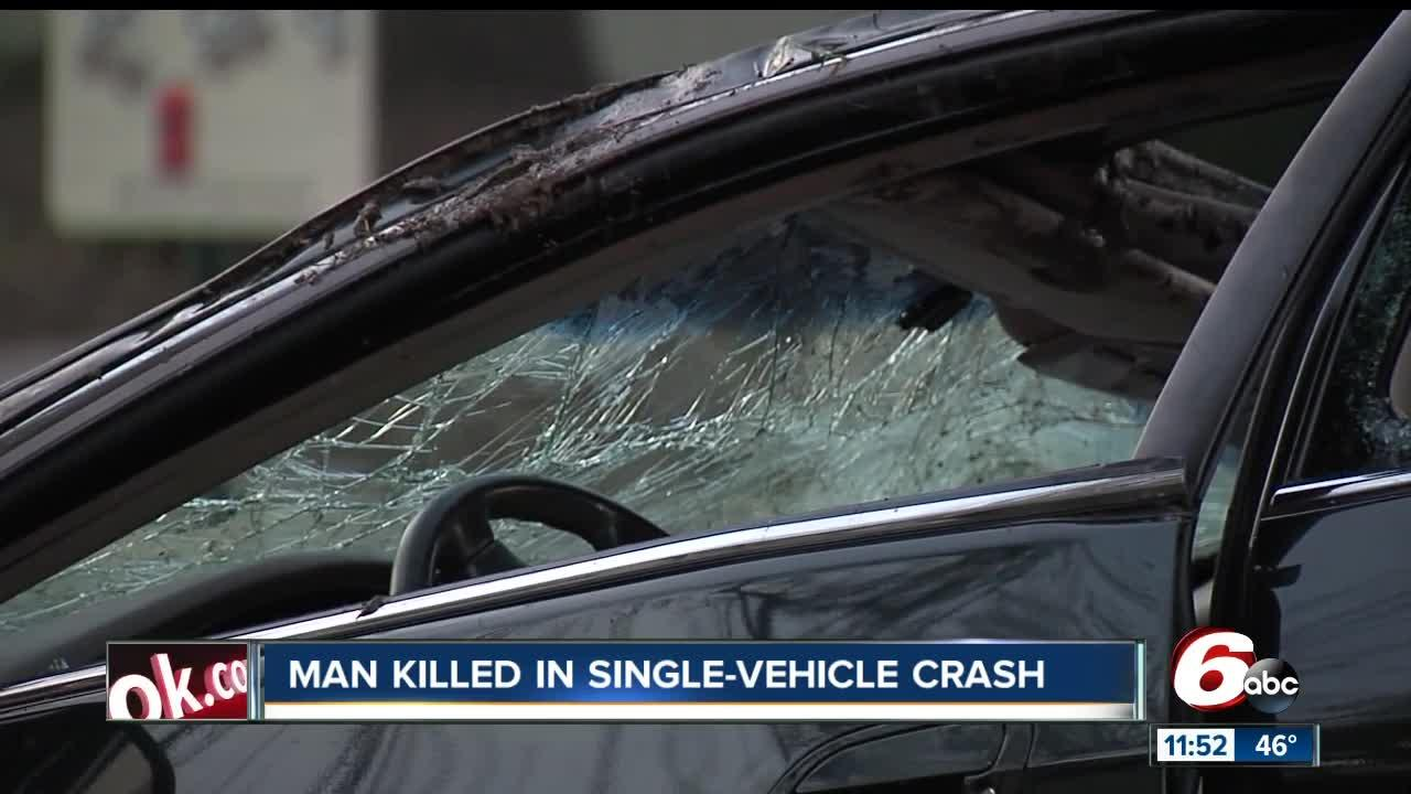 Person killed in crash on Indy's south side near East Street