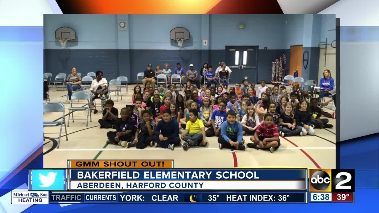 Good morning from students and staff at Bakerfield Elementary School