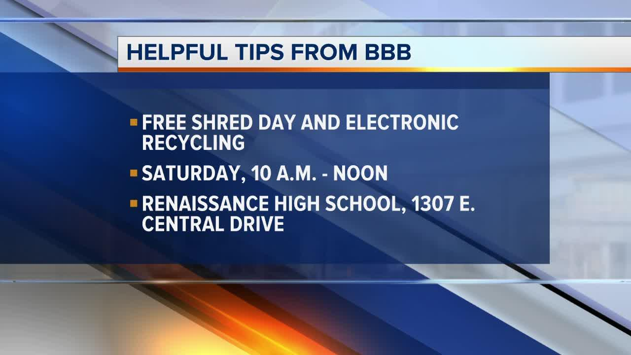 Safely dispose your sensitive documents at BBB's Free Shred Day