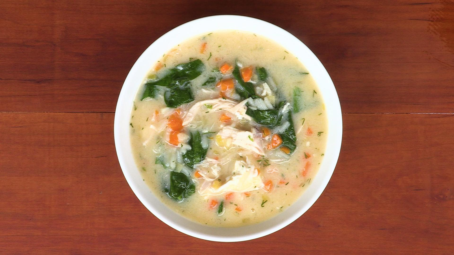 How to Make Lemony Chicken and Spinach Soup