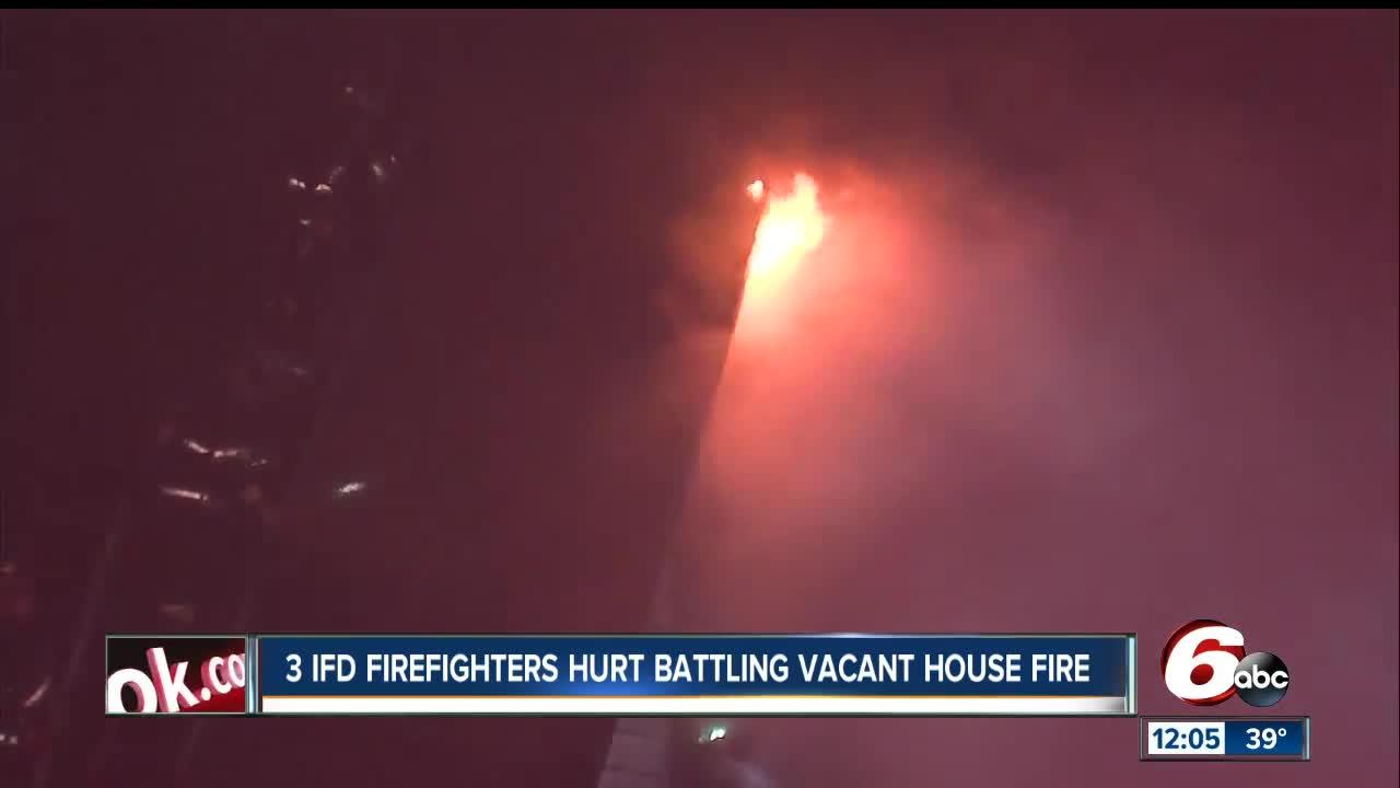 3 firefighters injured in Indianapolis house fire