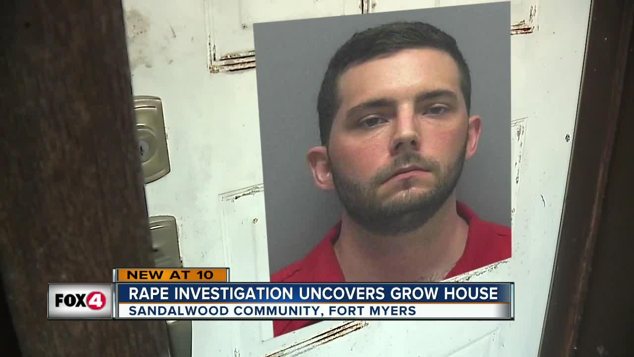 Rape investigation uncovers grow house