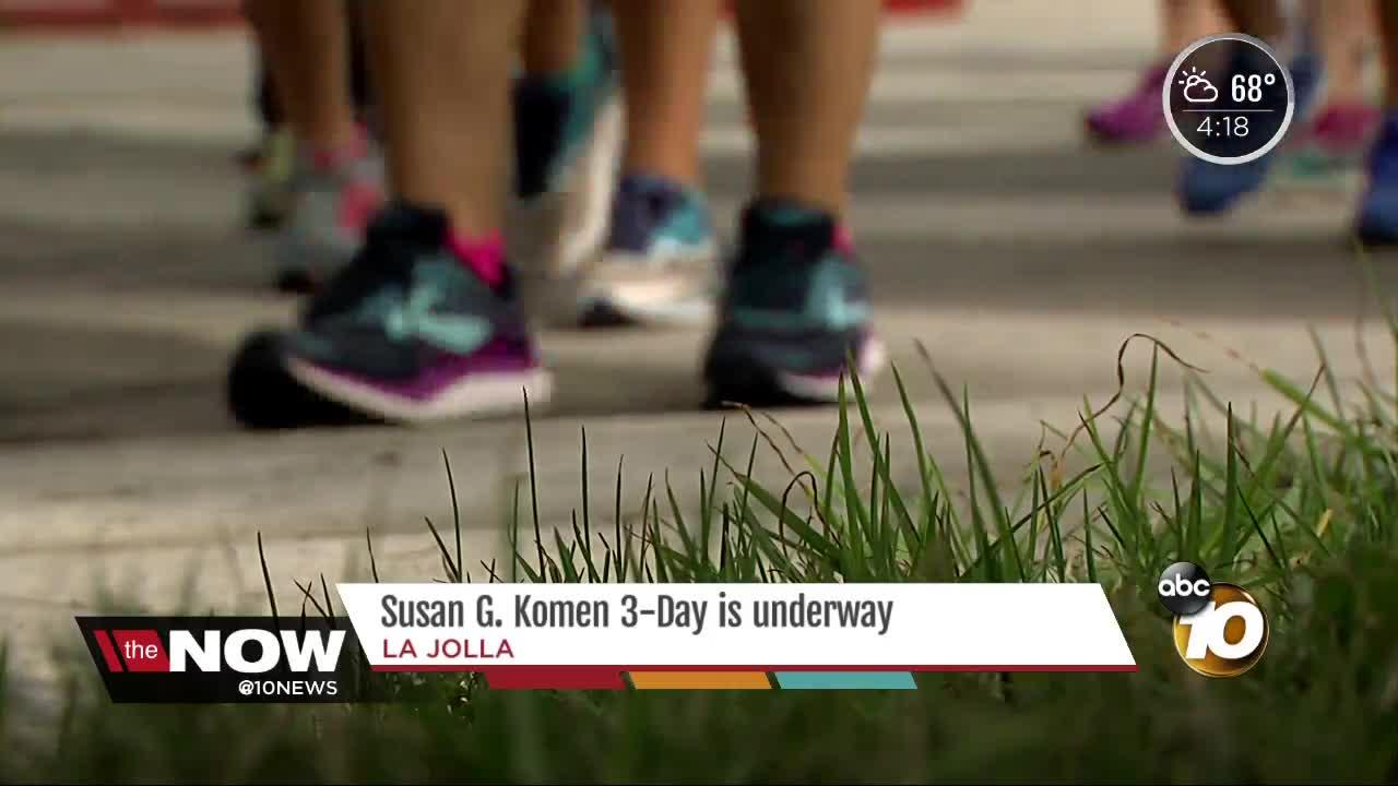 Susan G. Komen 3-day is underway