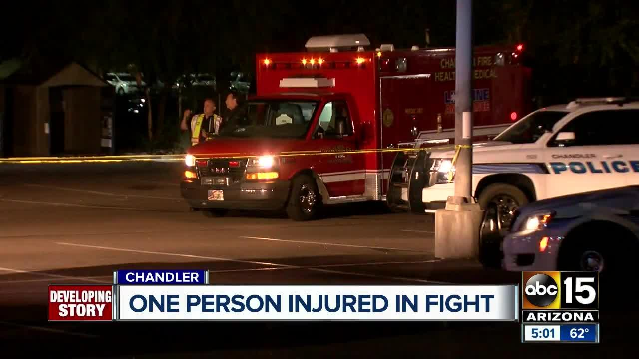 One person hurt in Chandler fight