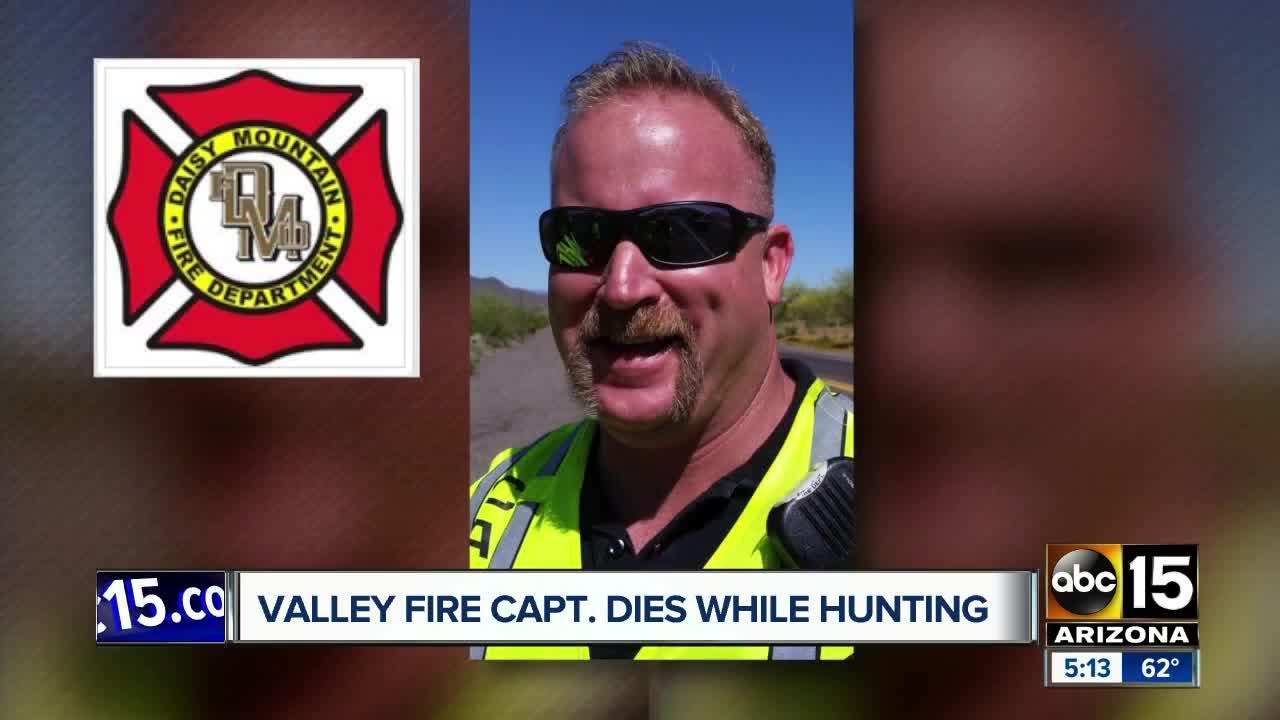 Valley fire captain dies while hunt