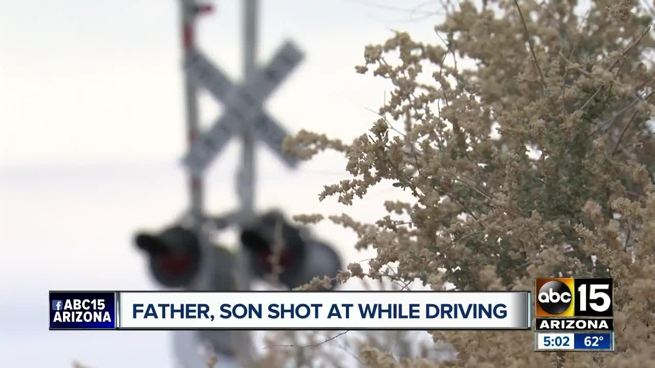 Father, son shot at in West Valley