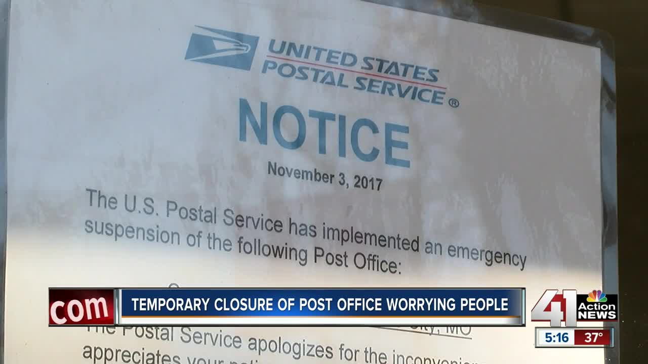 Temporary closure of post office worries people