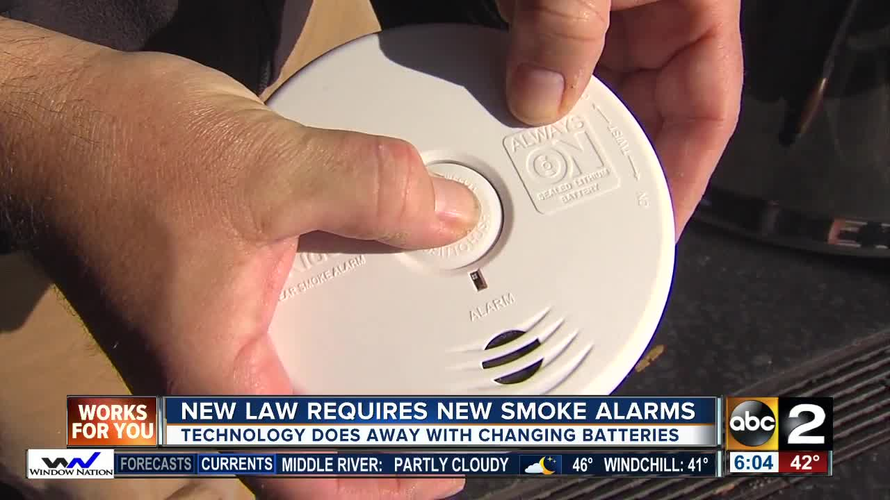 New Maryland law to require new smoke alarms