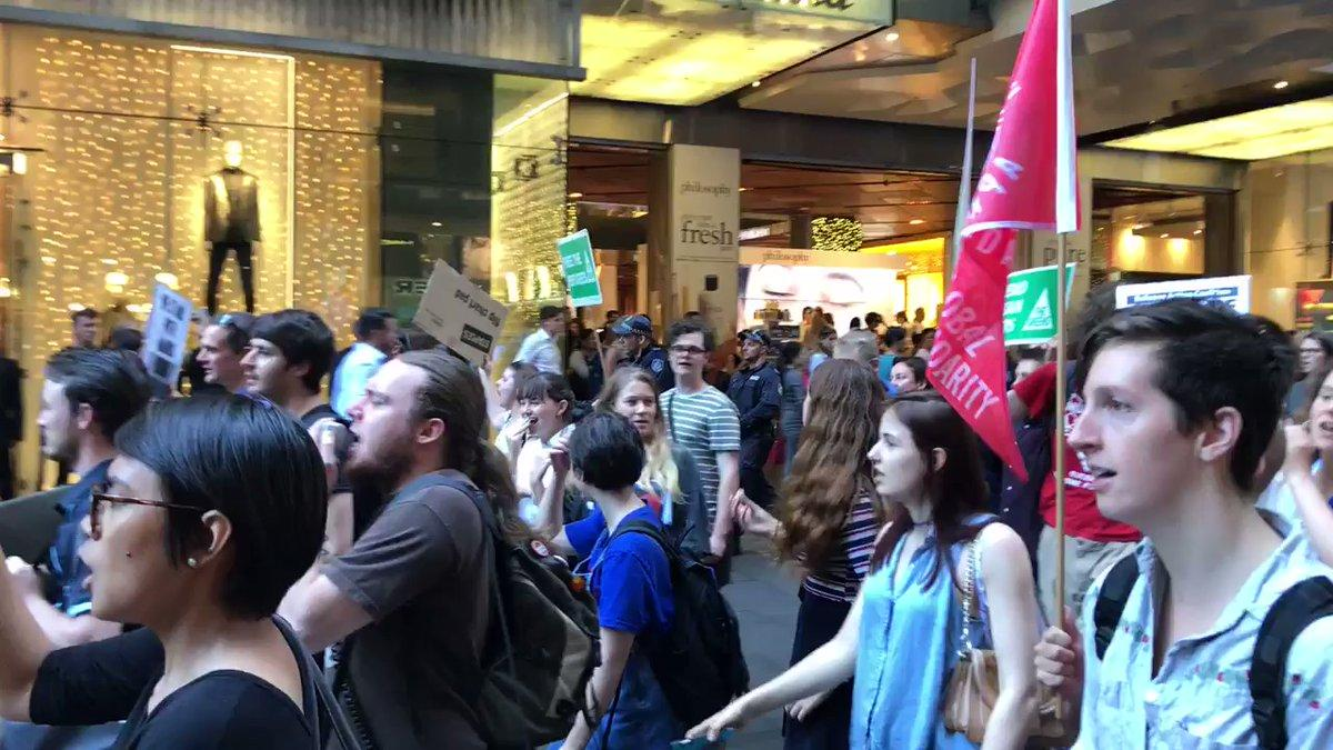 Sit-In Held on Sydney Street in Support of Manus Island Refugees