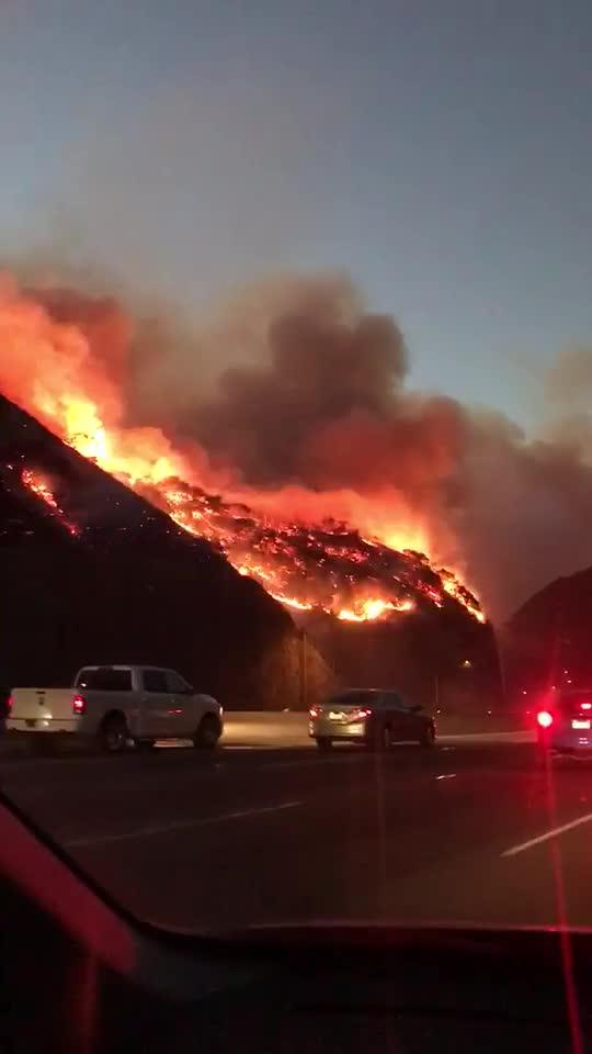 Brentwood Fires in Los Angeles