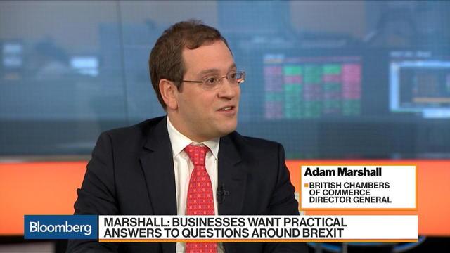 BCC's Marshall on U.K. Economy, Brexit Negotiations