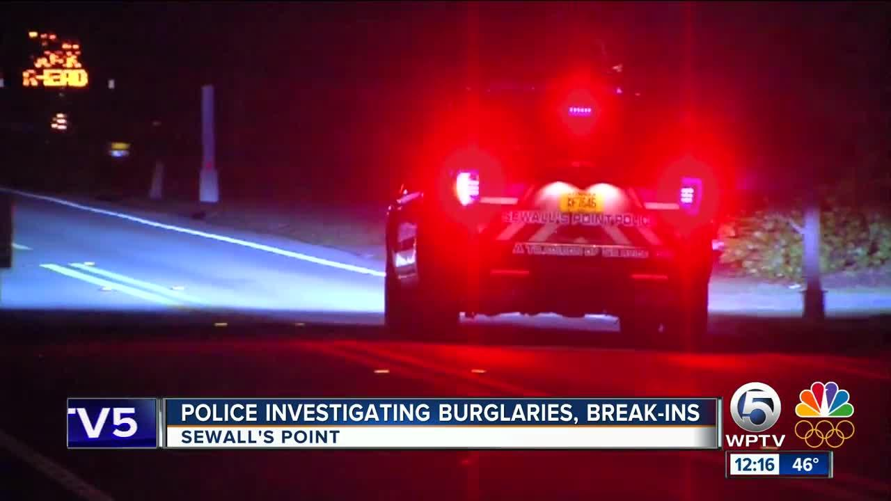 Homes burglarized in Sewall's Point
