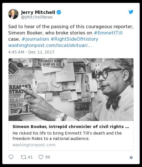 Civil rights journalist Simeon Booker dies at 99