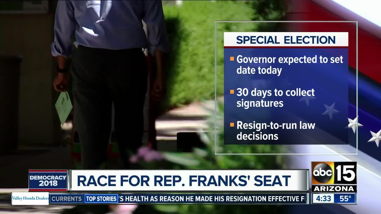 Gov. Ducey expected to set date for special election