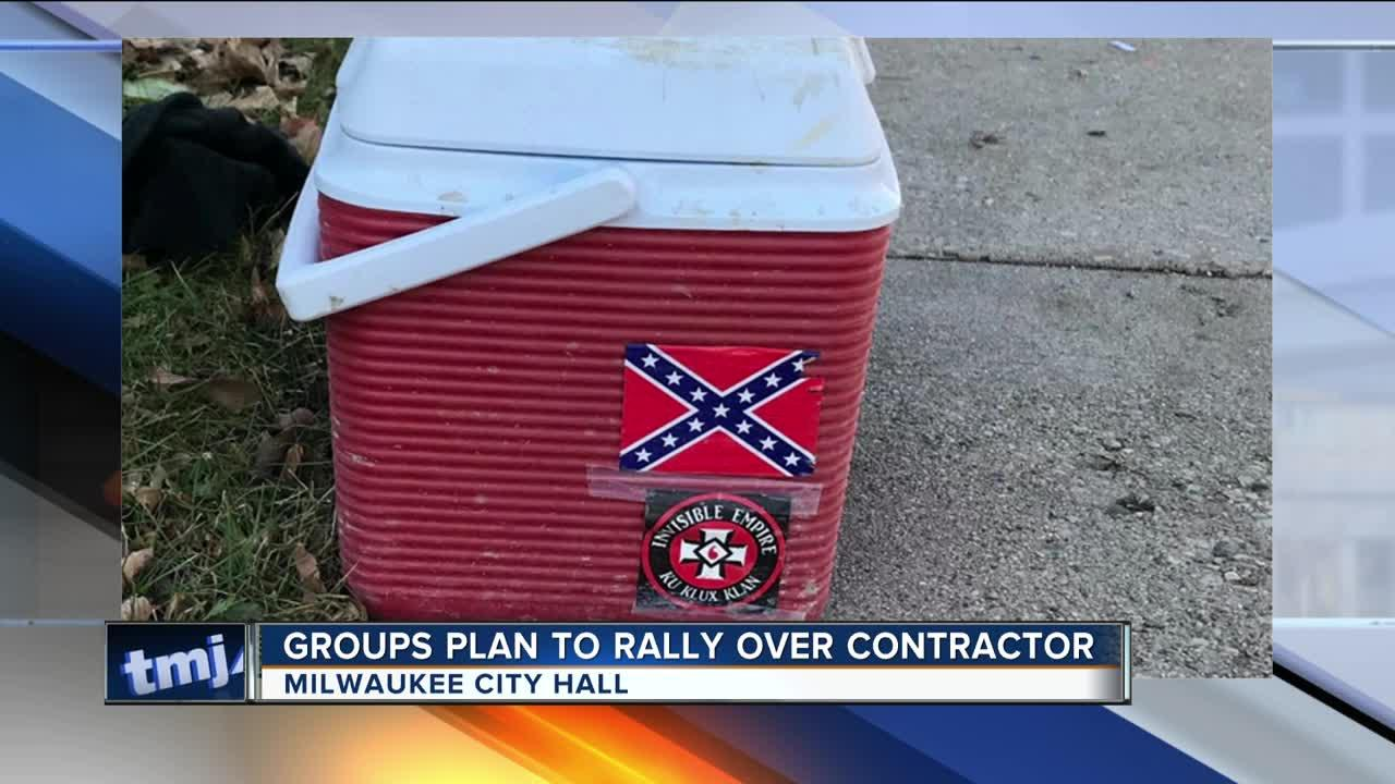 Worker fired for KKK sticker on lunch cooler