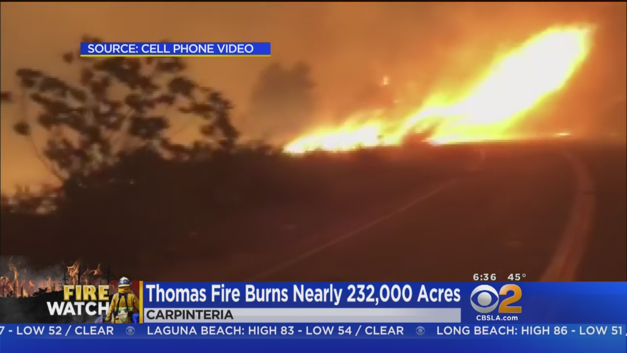 Calmer Winds Give Firefighters Chance To Gain On Thomas Fire