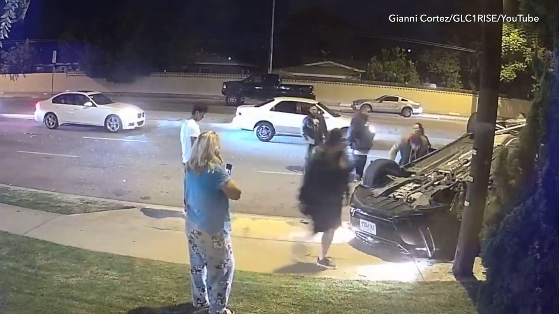 Videos Show Violent Car Crash in Southern California