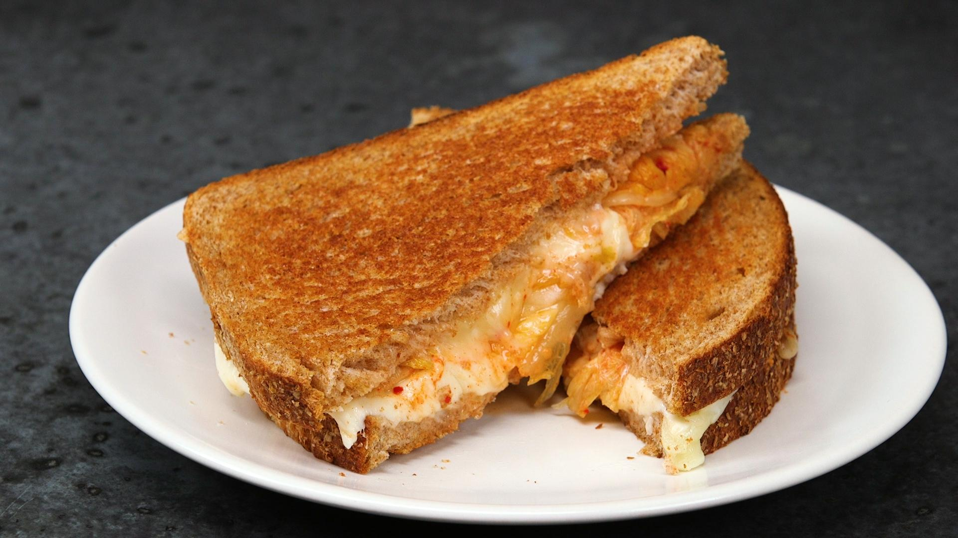 How to Make Kimchi Grilled Cheese