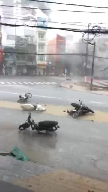 Hurricane Damrey in Vietnam