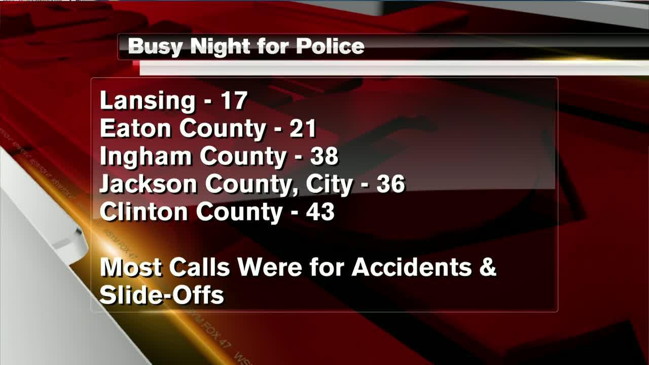 Multiple car accidents after Wednesday's snow kept local police busy
