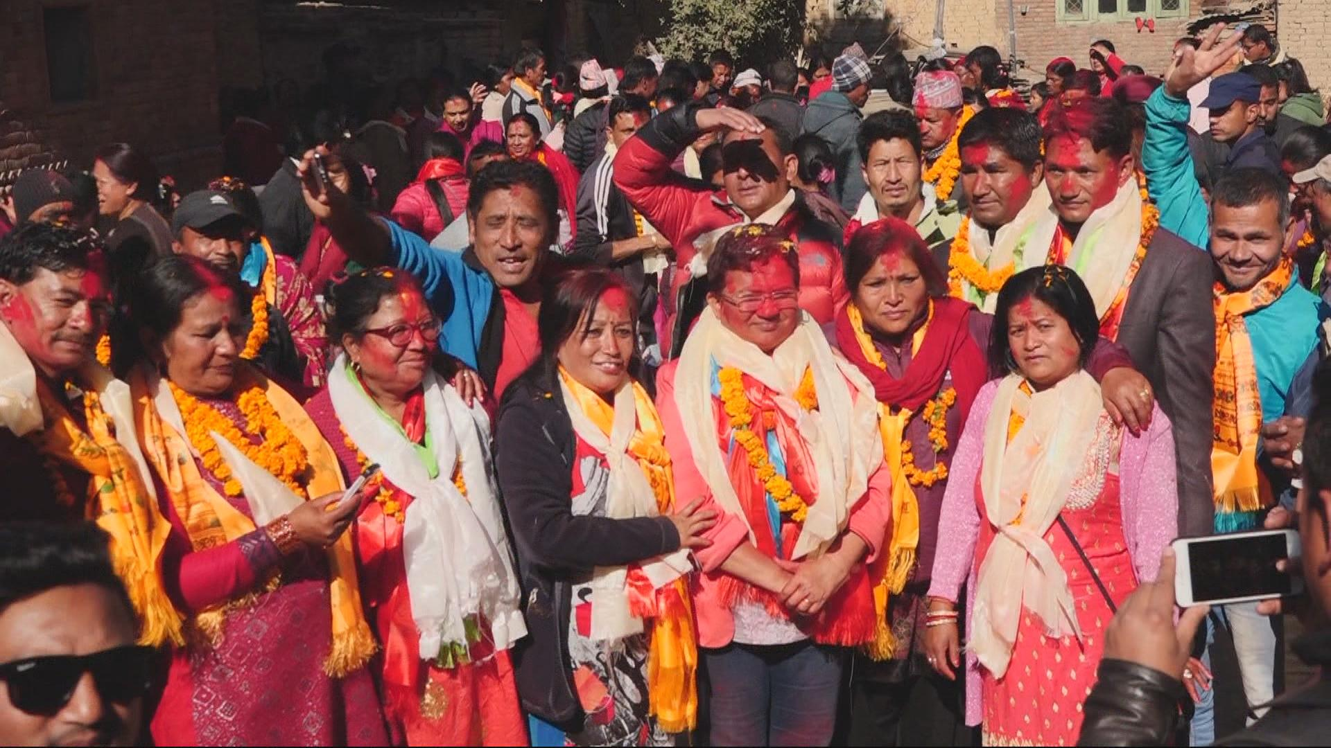 Nepal's Left Alliance celebrates landslide victory