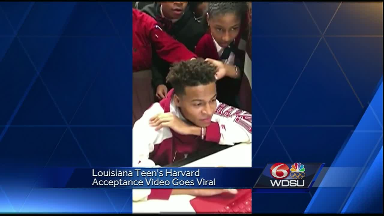 This video of a Louisiana teen getting into Harvard is the best thing you will see all week