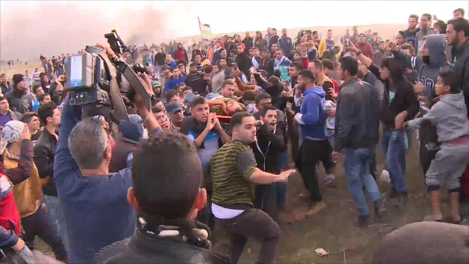 مظاهرات ومواجهات مع الاحتلال في غزة