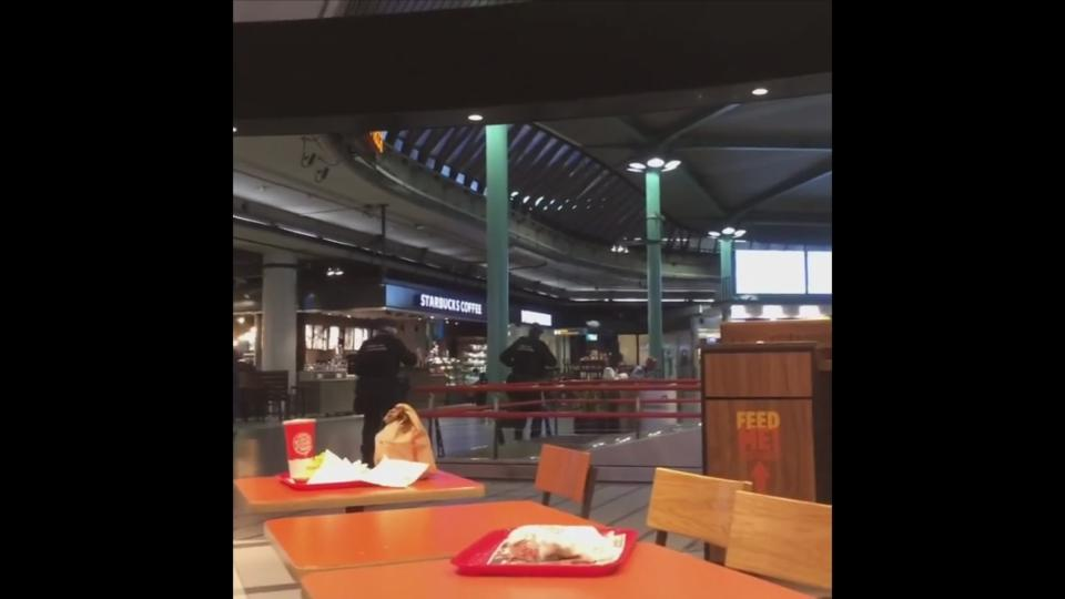 Man with knife shot at Schiphol airport, taken into custody - police