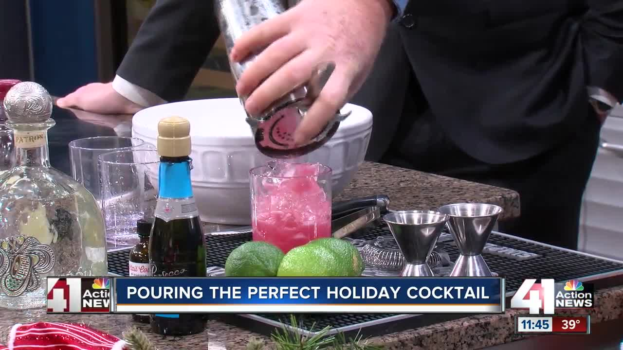 Pouring the perfect holiday cocktail