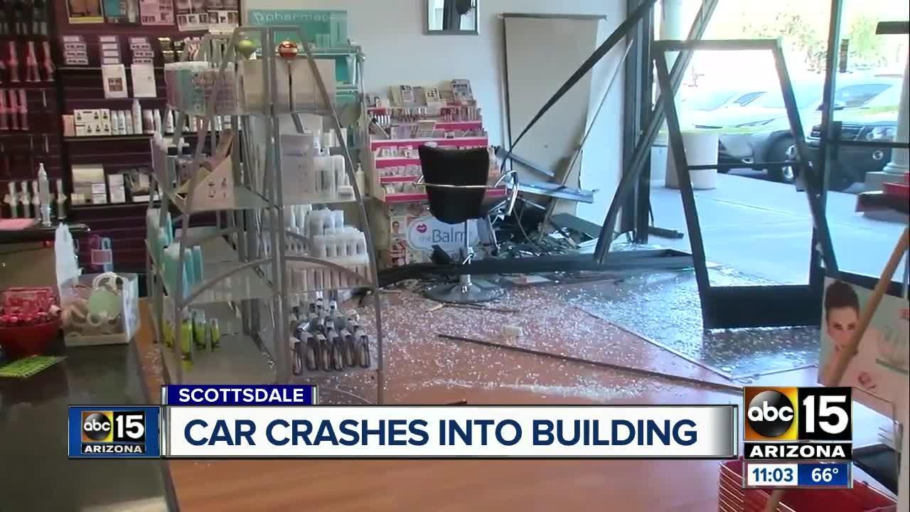 Car crashes into Scottsdale business
