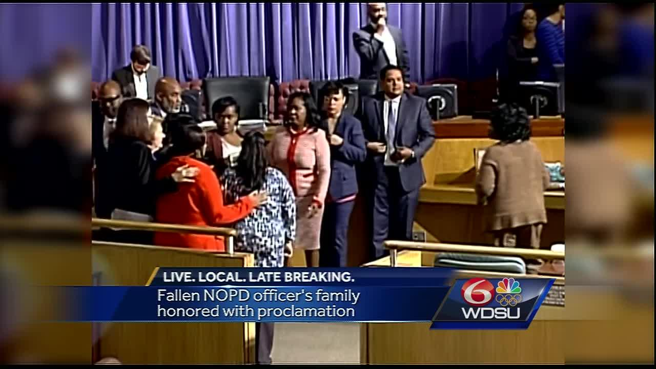 Fallen NOPD Officer's Family honored with City Council Proclamation