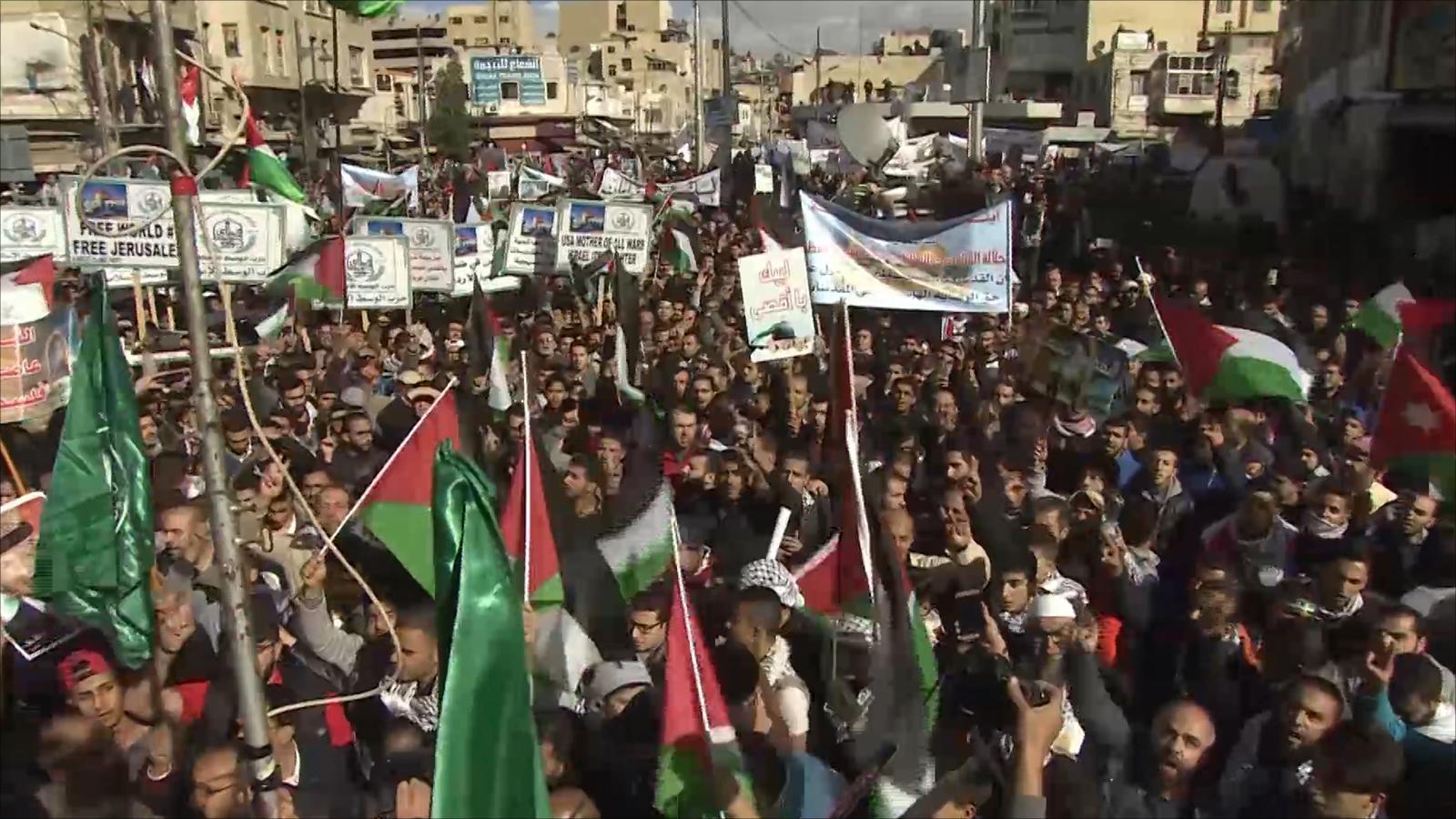 مسيرات بالأردن نصرة للقدس ورفضا لقرار ترمب