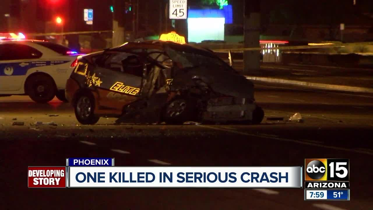 Taxi driver killed in south Phoenix crash