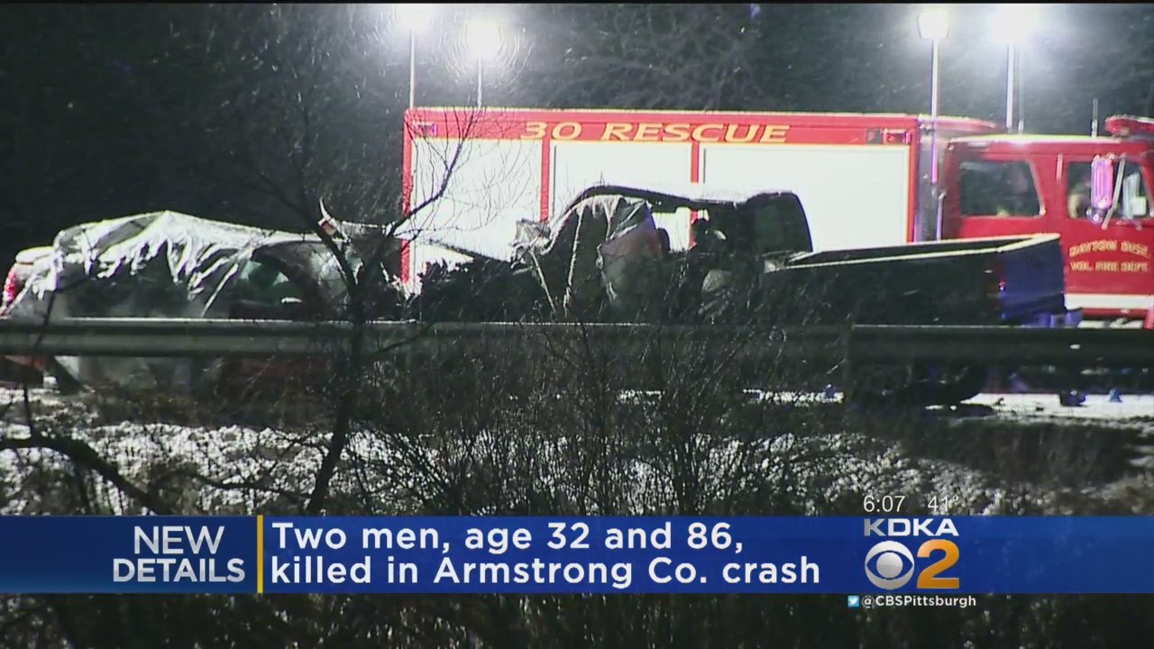Names Released Of Two Killed In Route 85 Crash In Armstrong County