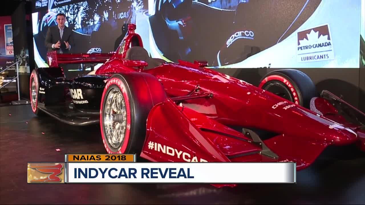 IndyCar unveils new car, aero package at Detroit auto show