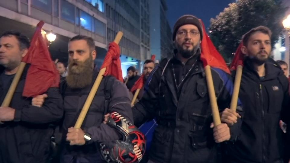 Economy up, reforms passed but Greeks still angry
