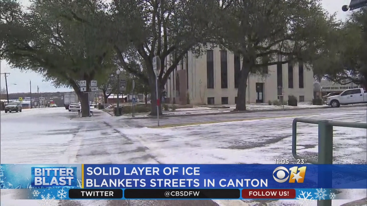 Slippery Streets lead To Quiet Streets Across Canton