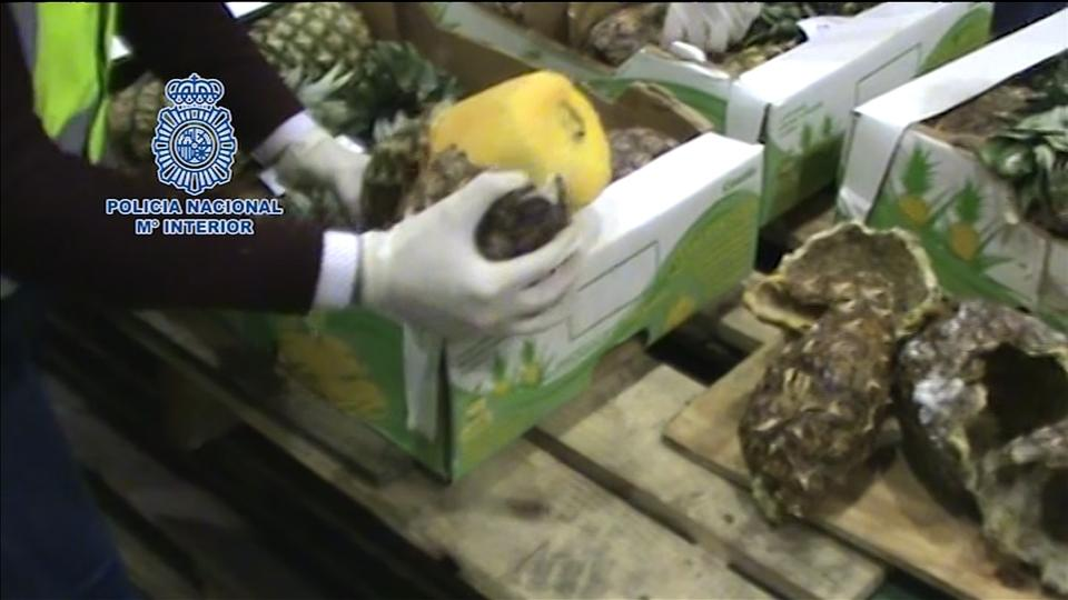 "Portuguese, Spanish police bust huge ""pineapple"" cocaine ring"