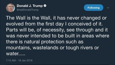 Donald Trump's Evolution on the Border Wall