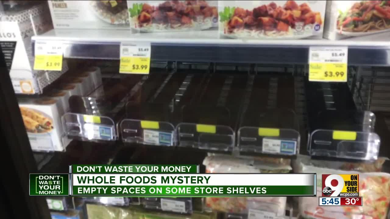 Why do Whole Foods stores have empty shelves?