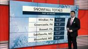 Spring snowstorm unfolds across Northeast