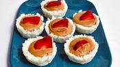 Strawberry Nutella Sushi Cups